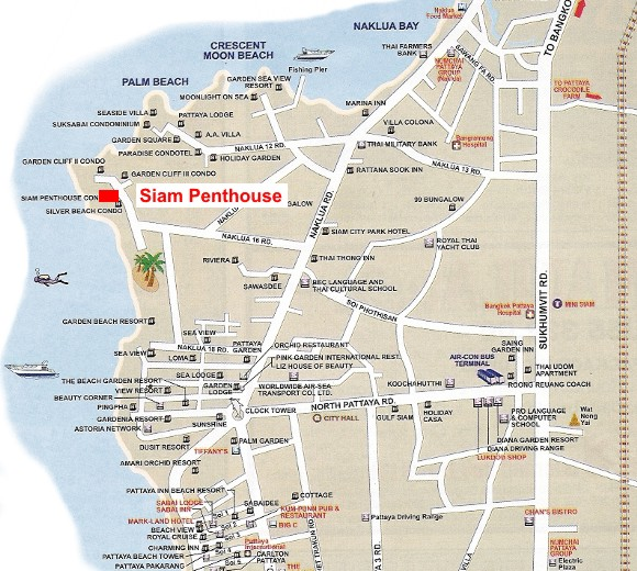 Location map of Siam Penthouse III